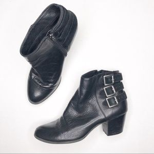 Sole Society Black Terilyn Ankle Booties + Buckles